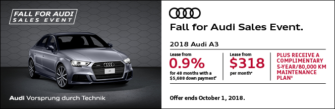 Fall for Audi Sales Event – A3