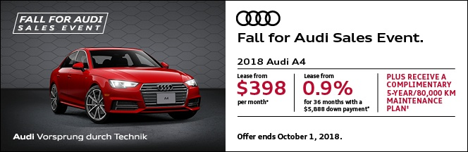 Fall for Audi Sales Event – A4/S4