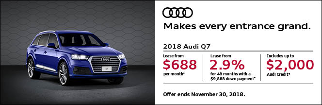 Fall for Audi Sales Event – Q7 3-Day Sales Event