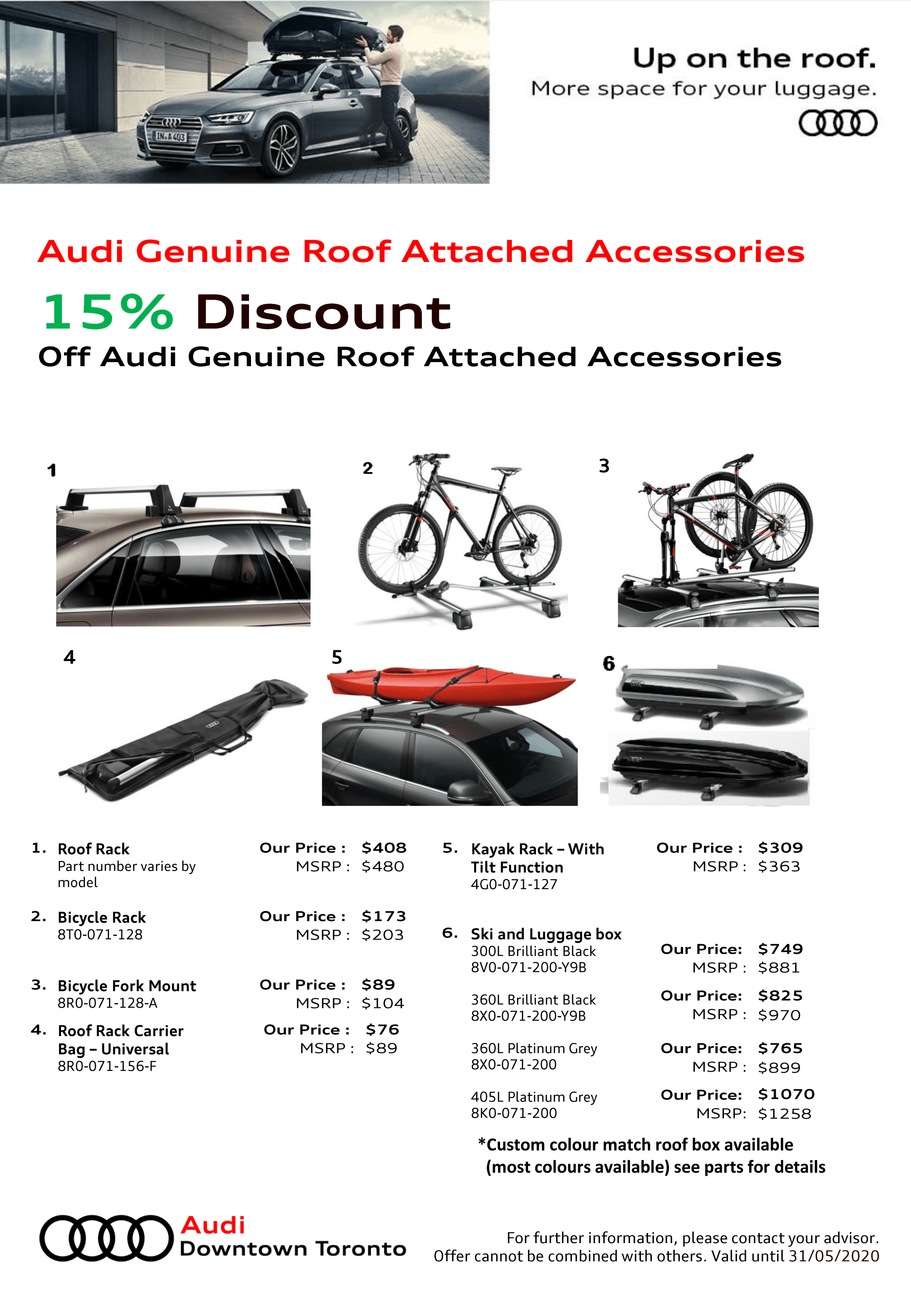 Audi Genuine Roof Attached Accessories